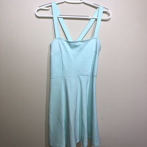 mint blue dress